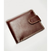 The Fashion Leather Diecut Loop Wallet For Men Brown (W004)