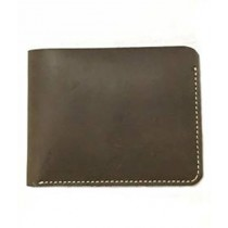 The Fashion Leather Open Edge Wallet For Men Brown (W017)