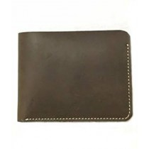 The Fashion Leather Open Edge Wallet For Men Brown (W018)