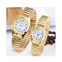 The Smart Shop Analog Watch For Couple Gold