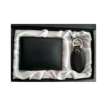 The Smart Shop Genuine Leather Keychain And Wallet Pack Of 2