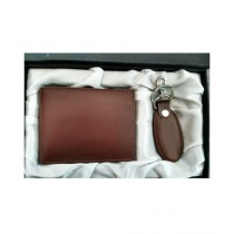 The Smart Shop Genuine Leather Keychain And Wallet Pack Of 2 (0253)