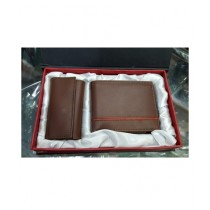 The Smart Shop Genuine Leather Keychain And Wallet Pack Of 2 (0254)