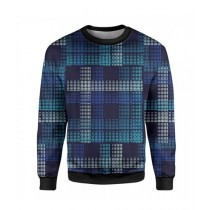The Warehouse Abstract Printed Sweatshirt For Unisex Blue (SS-08)