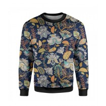 The Warehouse Floral Printed Sweatshirt For Unisex Blue (SS-09)