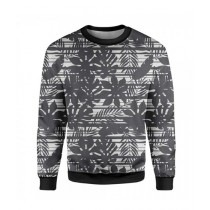 The Warehouse Flowers Printed Sweatshirt For Unisex Black (SS-05)