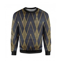 The Warehouse Royal Printed Sweatshirt For Unisex Black (SS-06)