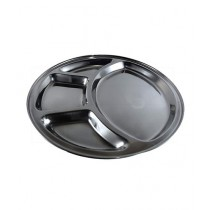 Tm Store Indain Stainless Steel Thali Set Of 12