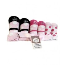 TMM Cute Socks For New Born Baby Girl Multi Colors - Pack of 3 Pair