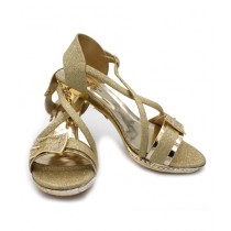 Toyo Shoes Heels For Women Golden (1034)