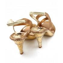 Toyo Shoes Heels For Women Golden (614)