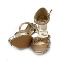 Toyo Shoes Heels For Women Golden (665)