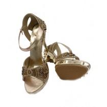 Toyo Shoes Heels For Women Golden (668)
