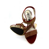 Toyo Shoes Heels For Women Red (614)
