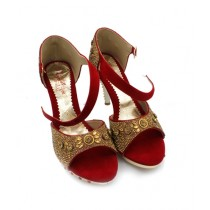 Toyo Shoes Heels For Women Red (620)