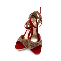Toyo Shoes Heels For Women Red (668)