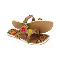 Toyo Shoes Kolapuri Chappal For Women Brown (117)
