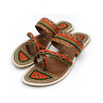 Toyo Shoes Kolapuri Chappal For Women Brown (162)
