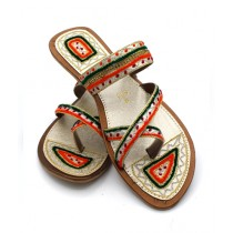 Toyo Shoes Kolapuri Chappal For Women Fawn (162)