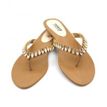 Toyo Shoes Slippers For Women Fawn (171)