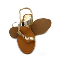 Toyo Shoes Toe Loops Sandals For Women Golden (707)
