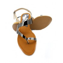 Toyo Shoes Toe Loops Sandals For Women Gray (707)