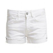 TradeTown Denim Short For Women White