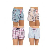 TradeTown Sleeping Shorts For Women Pack Of 2