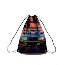 Traverse Car Digital Printed Drawstring Bag (0078)