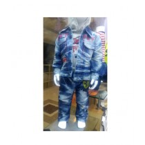 Trendy Fashion 3 Pc Denim Suit For Kids