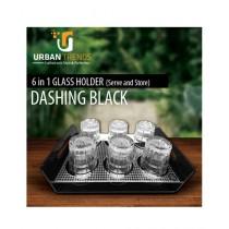 Urban Trends Glass Holder Black (GH-BW)