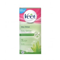 Veet Easy Gel Wax Strips For Dry Skin 12 Pcs