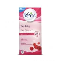 Veet Easy Gel Wax Strips For Normal Skin 12 Pcs