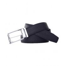 Vera Pelle Embossed Executive Leather Belt For Men Black (0010)