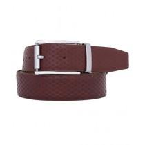 Vera Pelle Embossed Executive Leather Belt For Men Brown (0009)