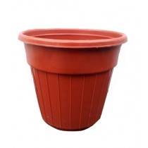VIP Deals Pots For Flower Plants Plastic Brown - Pack of 12