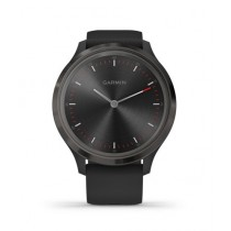 Garmin Vivomove 3 Slate Stainless Steel Bezel Activity Tracking Watch Black With Silicone Band