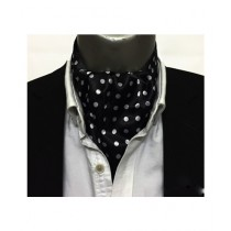 Vogue Bazar Black and White Polka Cravat For Men (0002)