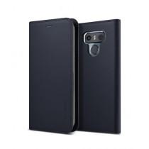 VRS Design Genuine Leather Diary Navy Case For LG G6