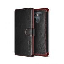 VRS Design Layered Dandy Series Black Leather Case For LG G6