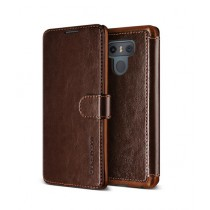 VRS Design Layered Dandy Series Brown Leather Case For LG G6
