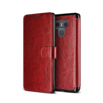 VRS Design Layered Dandy Series Red Leather Case For LG G6