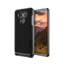 VRS Design Simpli Mod Series Black Leather Case For LG G6