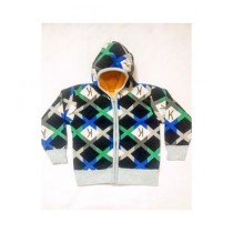 Wardrobe Desire Alphabet Zipper Hoodie For Kids