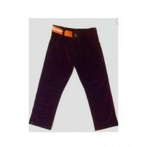 Wardrobe Desire Corded Trendy Jeans For Boy - Dark Maroon