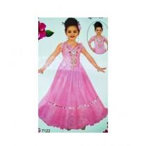 Wardrobe Desire Designer Dress With Net Sleeves - Pink