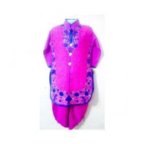 Wardrobe Desire Embroidered Kurta Shalwar For Girls - Shocking Pink