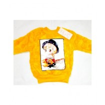 Wardrobe Desire Pure Fur Wool Trendy Sweaters For Girls -Yellow