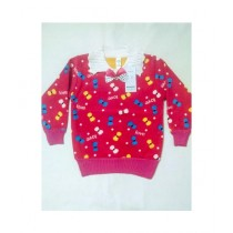 Wardrobe Desire Velvet Sweater For Girls - Pink