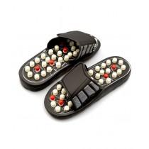 Waseem Electronics Foot Massager Slippers Black